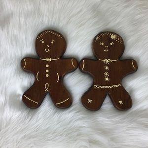Other - Vintage Wooden Gingerbread Man and Woman Couple